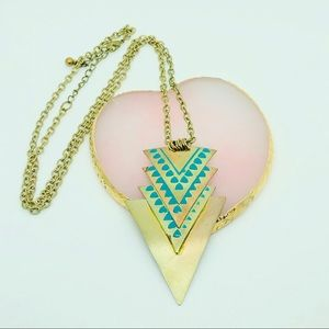 Cool sharp triangle necklace